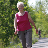 Older Adult Walking on Trail