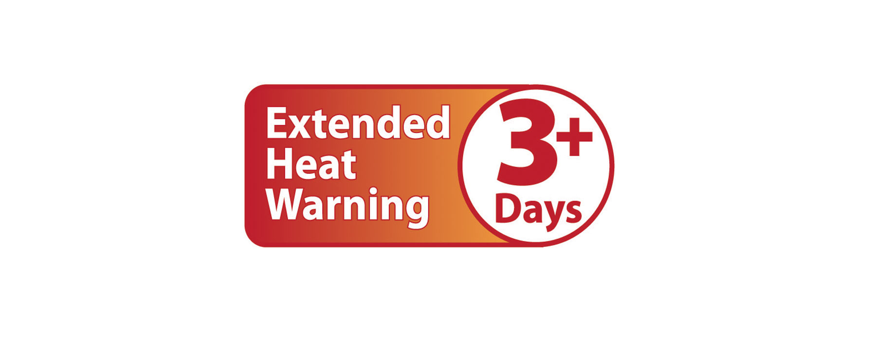 Extended Heat Warning 3 days Banner