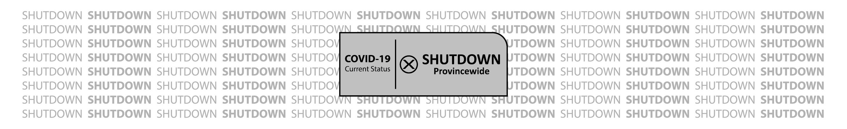 Covid-19 Current Status, shutdown province wide